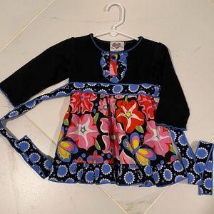 Ann Loren Floral Ruffle Dress